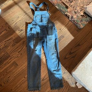 Free People Denim Overalls 26